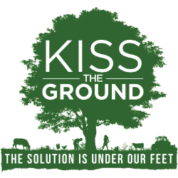kiss the ground logo with tree