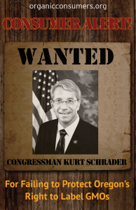 WANTED: Rep. Kurt Schrader from OR