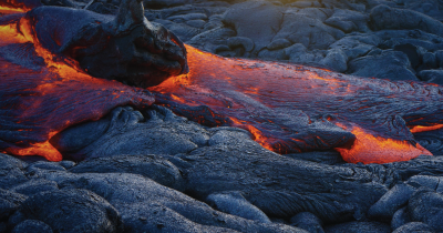 Lava from a volcano.