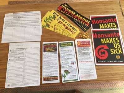 March Against Monsanto Materials