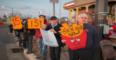 McDonalds workers protest
