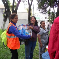 donating items to victims of earthquake in Mexico