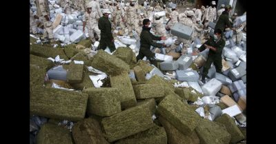 Result of Mexico's ongoing Drug War. They are burning hindreds of Kilo's of confiscated drugs