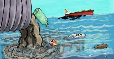 pollution dumping into the ocean