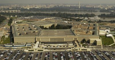 Aerial view of United States Pentagon