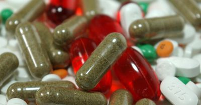 colorful pills and supplements