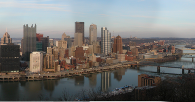 skyline and cityscape of Pittsburgh Pennsylvania