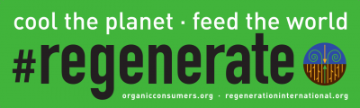 #regenerate: cool the panet, feed the world bumper sticker image