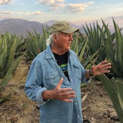 Ronnie with Mexican landscape