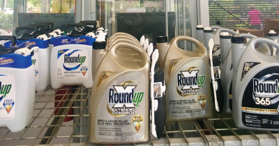 Bottles of Roundup.