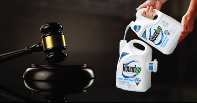 RoundUp bottles and gavel.