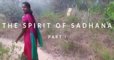 still screenshot from the film Spirit of Sadhana