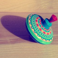 colorful spinning top toy