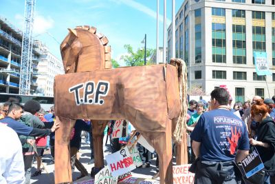 """Stop Fast Track"" rally in Washington D.C., April 2015"