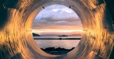 pipeline leading to the ocean