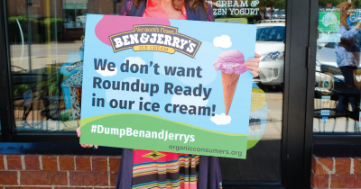 Ben and Jerry's protest.