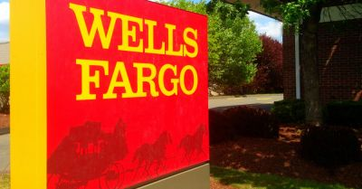 Exterior signage for Wells Fargo Bank