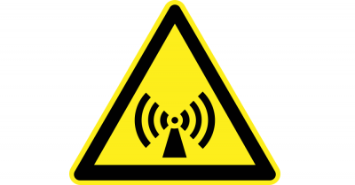 electromagnetic wifi signal warning sign