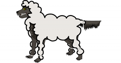 cartoon of a wolf in sheeps clothing
