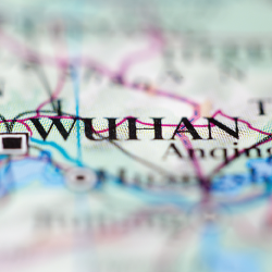 wuhan on map